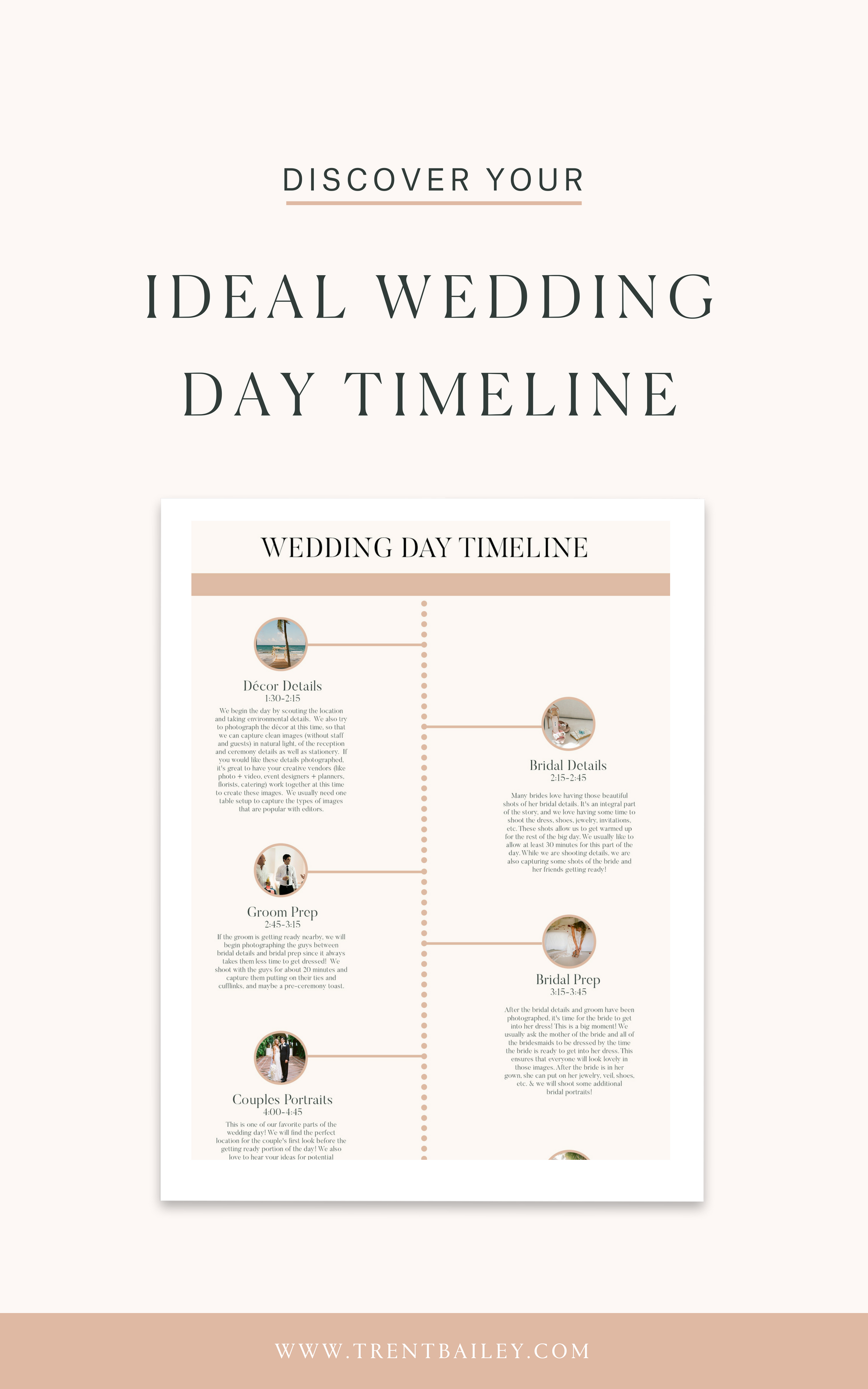 IDEAL WEDDING DAY TIMELINE - IDEAL WEDDING DAY TIMELINE